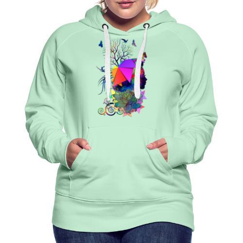 Lady Colors by T-shirt chic et choc - Sweat-shirt à capuche Premium pour femmes