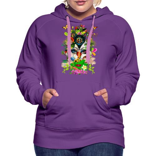 Parfum d'été by T-shirt chic et choc - Sweat-shirt à capuche Premium pour femmes