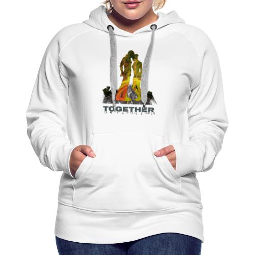 Together - Sweat-shirt à capuche Premium pour femmes