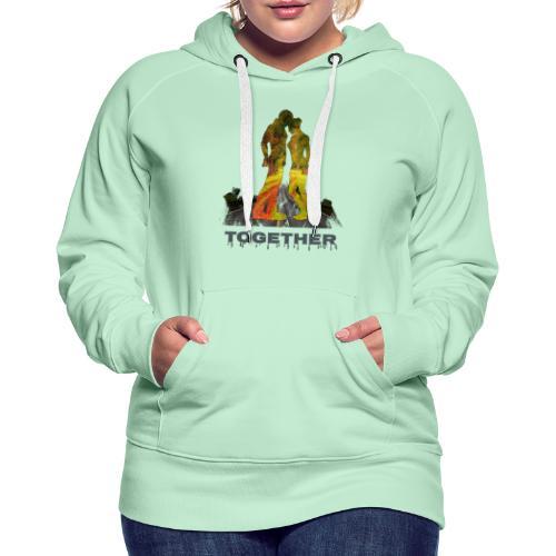 Together - Sweat-shirt à capuche Premium pour femmes