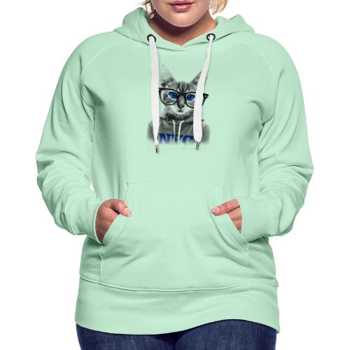 Nerdy Cat - Frauen Premium Hoodie