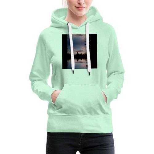 Sonnenhorizont Spiegelung Ufowolke - Frauen Premium Hoodie