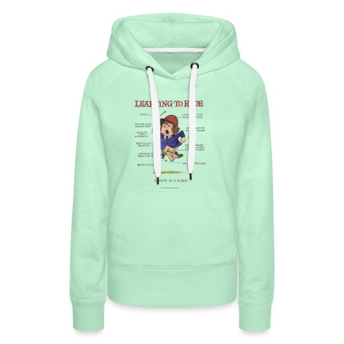 Thelwell Cartoon Learning to ride - Frauen Premium Hoodie