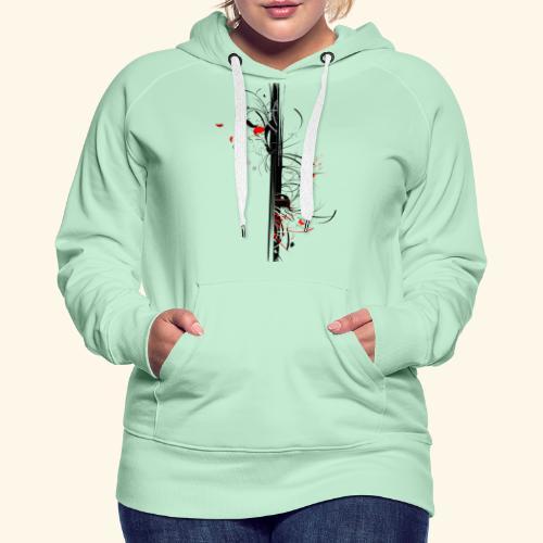 Papillonade - Sweat-shirt à capuche Premium pour femmes