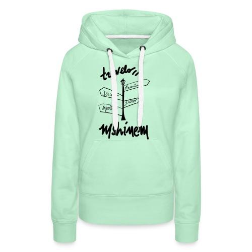 travels visu - Sweat-shirt à capuche Premium pour femmes