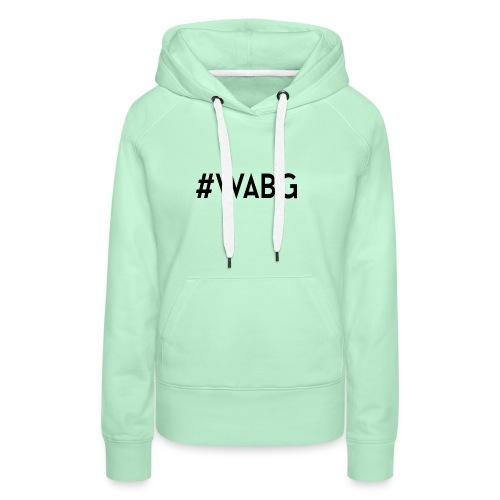 WABG ZWART png - Vrouwen Premium hoodie