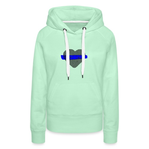 serduszko blu - Bluza damska Premium z kapturem