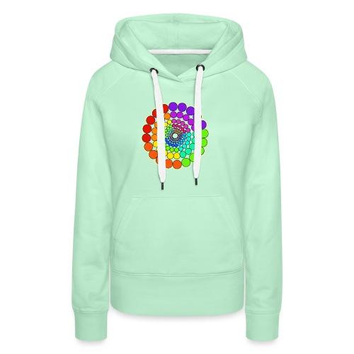 Rainbow Spectrum Mandala - Women's Premium Hoodie