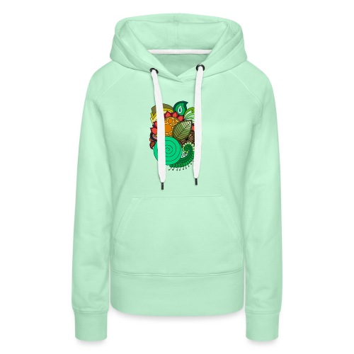 Coloured Leaf Mandala - Women's Premium Hoodie