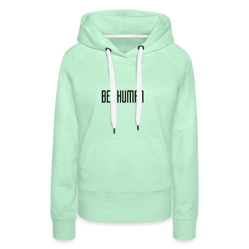 Logo tshirt2 - Sweat-shirt à capuche Premium pour femmes