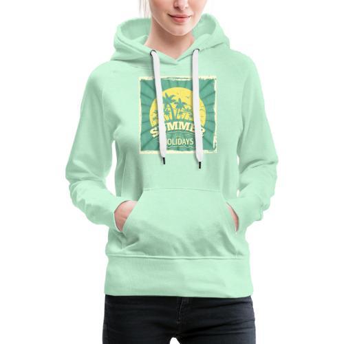 conception lettres ete - Sweat-shirt à capuche Premium pour femmes