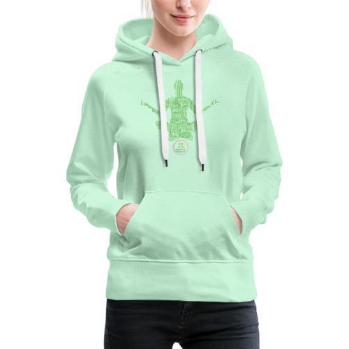 Meditation Good Vibes Green - Sweat-shirt à capuche Premium pour femmes