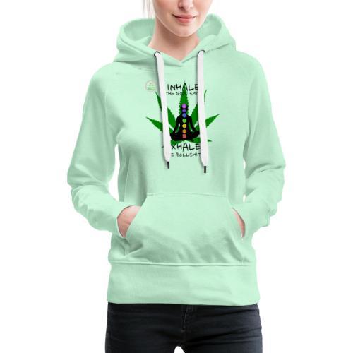Yoga Ganja - Sweat-shirt à capuche Premium pour femmes