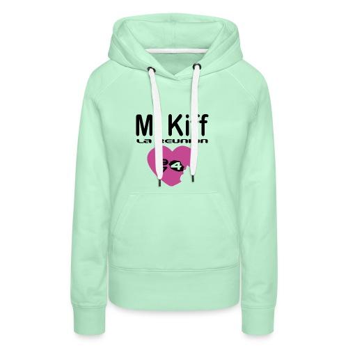 Mi Kiff la reunion - Sweat-shirt à capuche Premium pour femmes