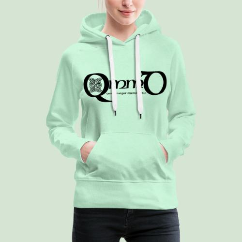QmmD Logo Black - Frauen Premium Hoodie