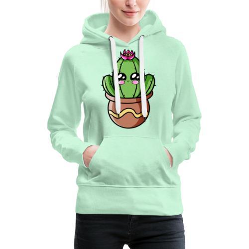 Cactus Kawaii - Sweat-shirt à capuche Premium pour femmes