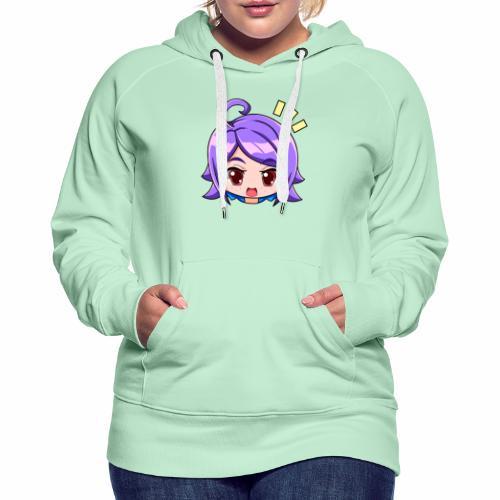 expresiones chica - Sudadera con capucha premium para mujer
