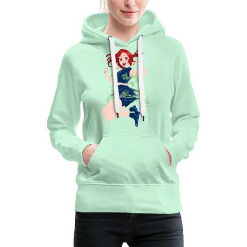 Fille dansant Northern Lights - Sweat-shirt à capuche Premium pour femmes