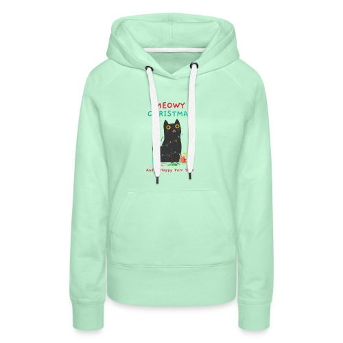 Meowy Christmas ad a Happy Purr year - Vrouwen Premium hoodie