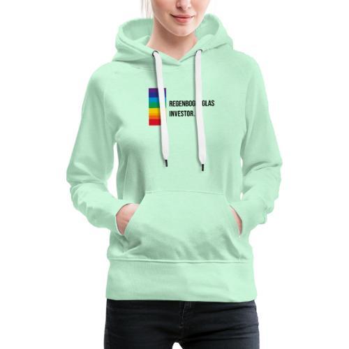 Regenbogen-Glas-Investor Meme schwarz - Frauen Premium Hoodie