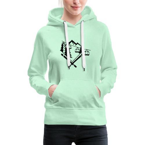 Mountain Gondola - Vrouwen Premium hoodie