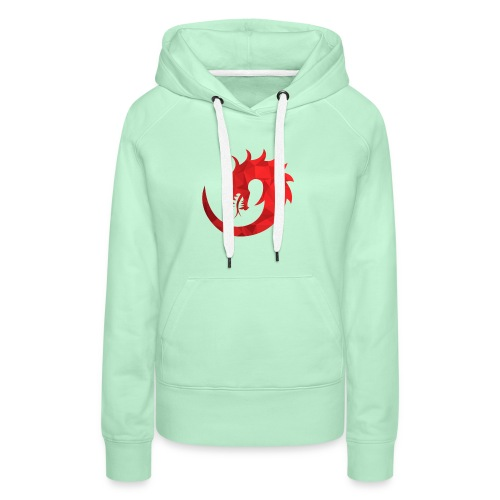 Dragon Rouge - Sweat-shirt à capuche Premium pour femmes