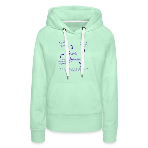 je suis nounou foncé - Sweat-shirt à capuche Premium pour femmes