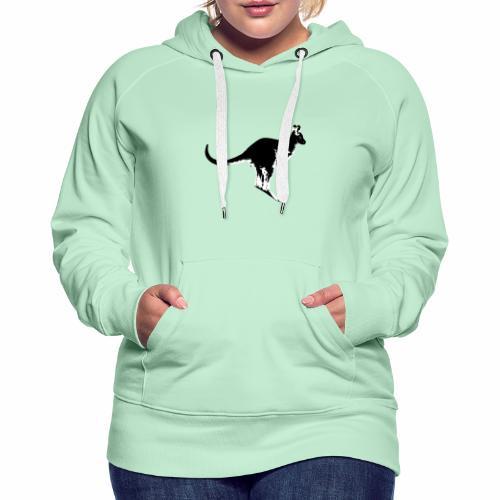 Känguru in schwarz weiss - Frauen Premium Hoodie