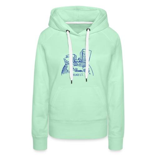 Freundelogo blau - Frauen Premium Hoodie