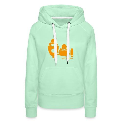 BASSET LOGO orange - Sweat-shirt à capuche Premium pour femmes