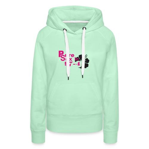 974 pur esex 02 - Sweat-shirt à capuche Premium pour femmes