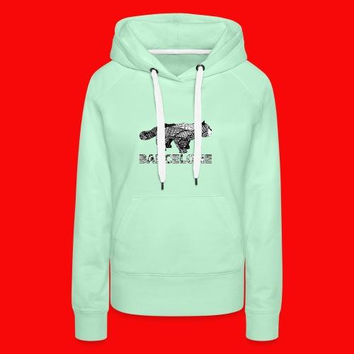 LOGO CAT RAVAL - Sweat-shirt à capuche Premium pour femmes