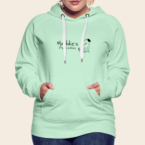 Académie des chiens de Maddie (noir) - Sweat-shirt à capuche Premium pour femmes