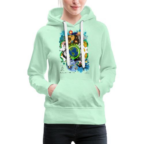 Terre Mère Nature (Fr) -by- T-shirt chic et choc - Sweat-shirt à capuche Premium pour femmes