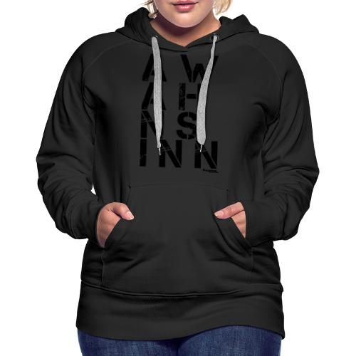 HazyShirt02awahnsinn - Frauen Premium Hoodie