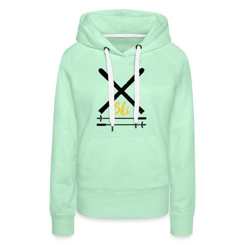 Ski Emblem Crossed Skis Black/yellow schwarz/ gelb - Frauen Premium Hoodie