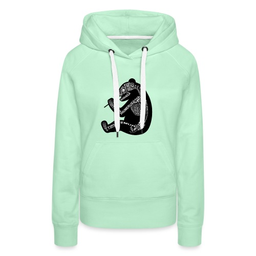 Panda skeleton - Women's Premium Hoodie