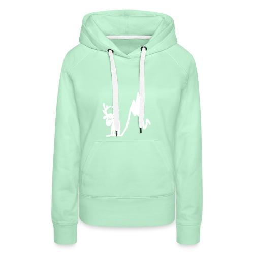 Renne blanc - Une blonde en Norvège - Sweat-shirt à capuche Premium pour femmes