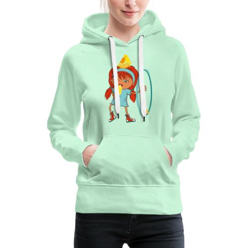 Happy Girl mit Eis, Vögeln und HulaHoop - Frauen Premium Hoodie