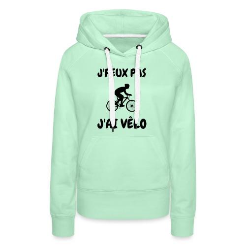 JPEUX pas Jai velo - Sweat-shirt à capuche Premium pour femmes