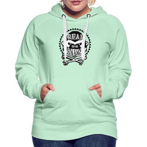 logo quai des bananes pirate - Sweat-shirt à capuche Premium pour femmes