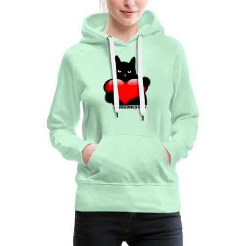 SirMadnessTV - LOVE - Sweat-shirt à capuche Premium pour femmes