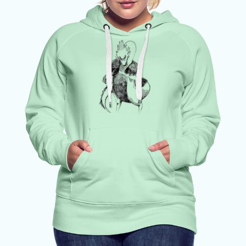 DRAGON STYLE real drawing - Women's Premium Hoodie
