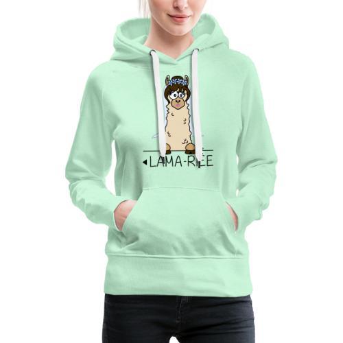 LAMARIEE (1de2), Mariage, mariée, Lama - Sweat-shirt à capuche Premium pour femmes