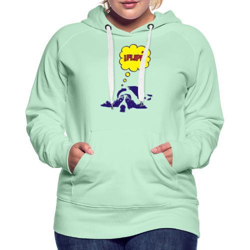 fiple - Sudadera con capucha premium para mujer
