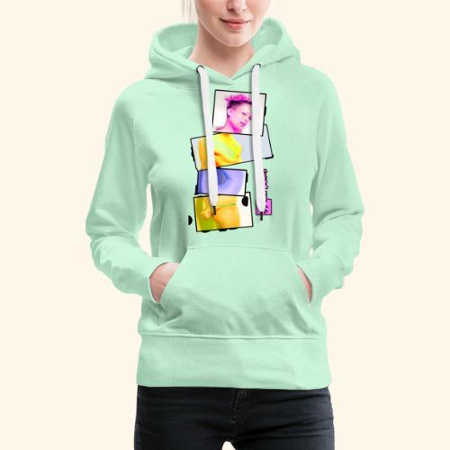 Untitled 3 explose - Sweat-shirt à capuche Premium pour femmes