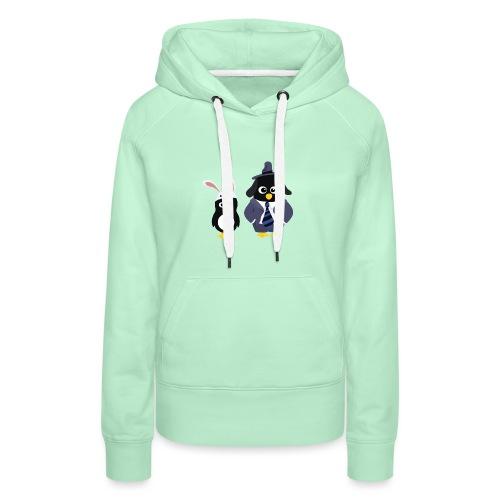 Pingouins and Max - Sweat-shirt à capuche Premium pour femmes