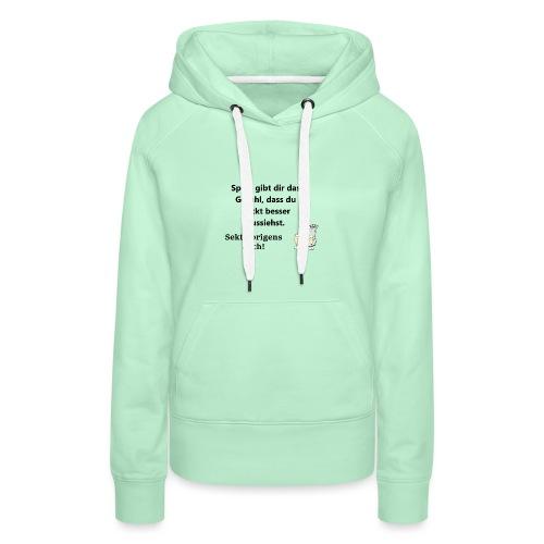 Fun T-Shirt Damen Zicke sekt - Frauen Premium Hoodie