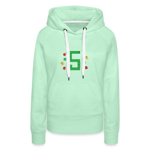 Serpent Tetris - Sweat-shirt à capuche Premium pour femmes