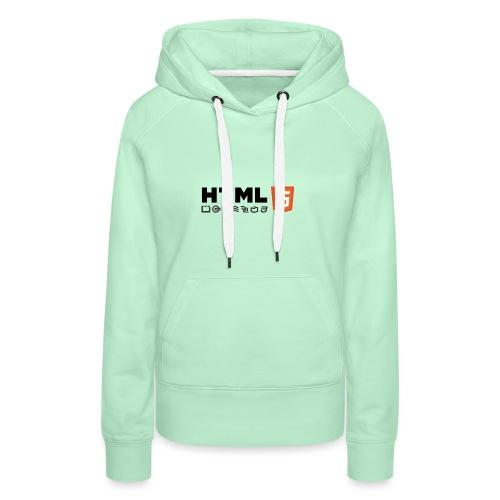 Html 5 - Sweat-shirt à capuche Premium pour femmes